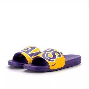 Nike LA Lakers sliders mens size 10